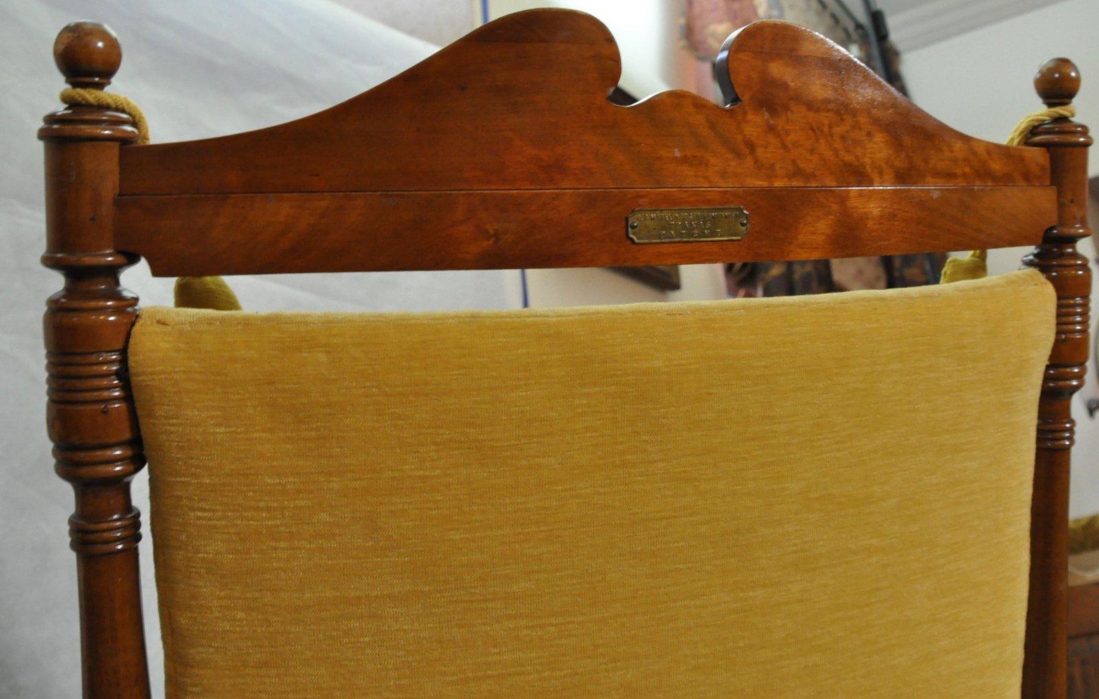 skandinavischer vintage holz schaukelstuhl 1950er bei. Black Bedroom Furniture Sets. Home Design Ideas