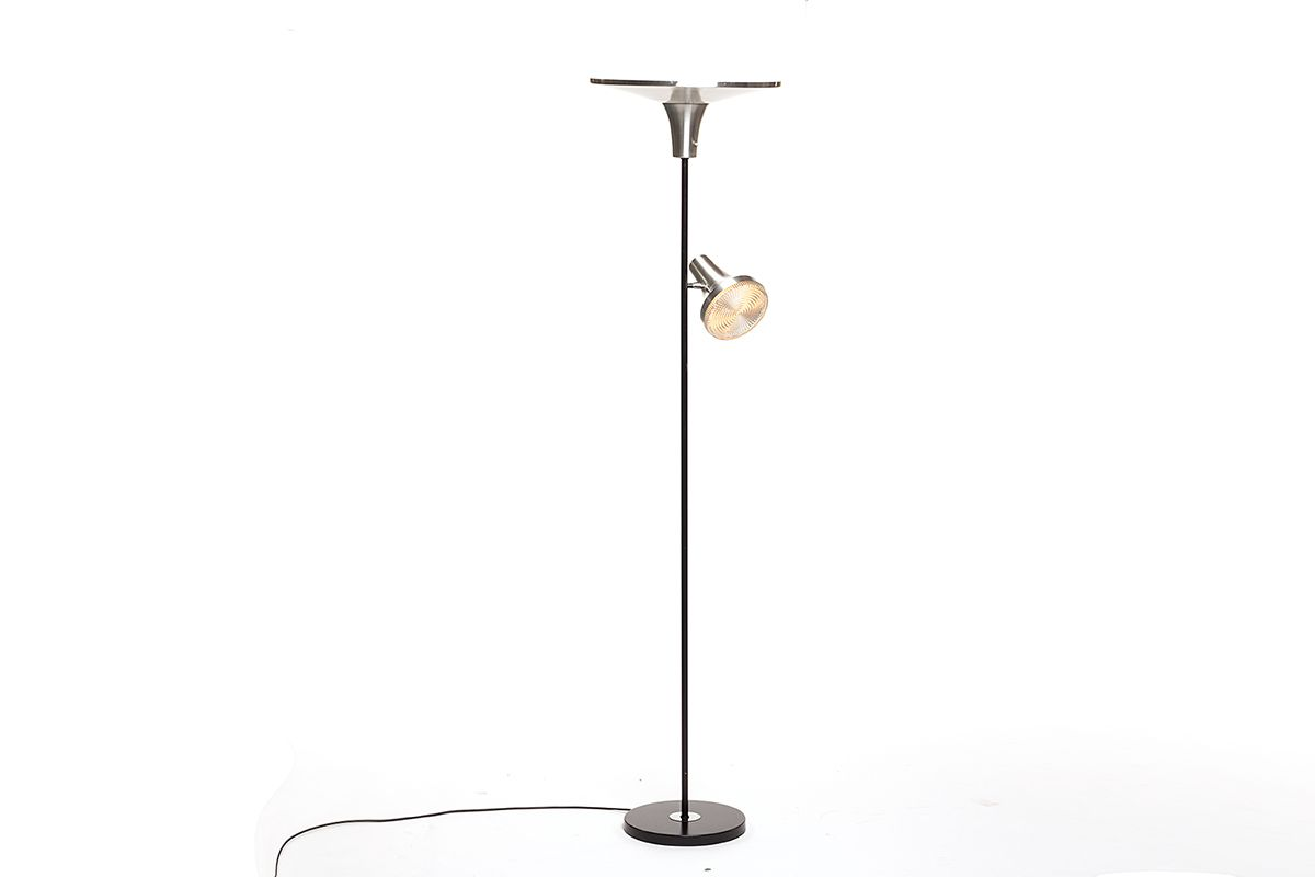 Vintage floor lamp with reading lamp by hala for sale at for Retro floor reading lamp