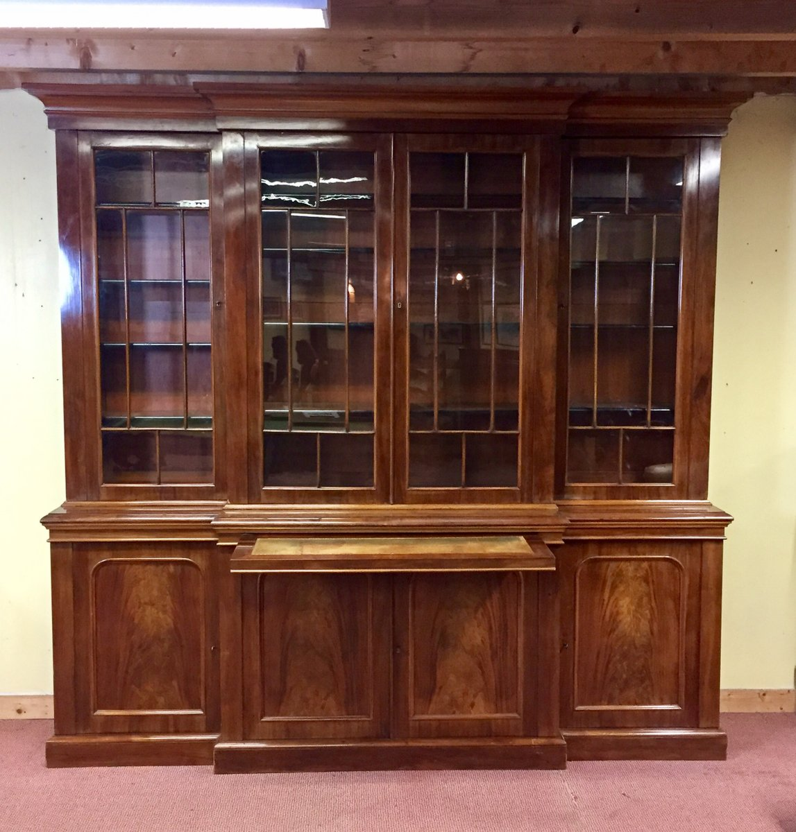 Victorian Antique Display Cabinet in Mahogany - Victorian Antique Display Cabinet In Mahogany For Sale At Pamono