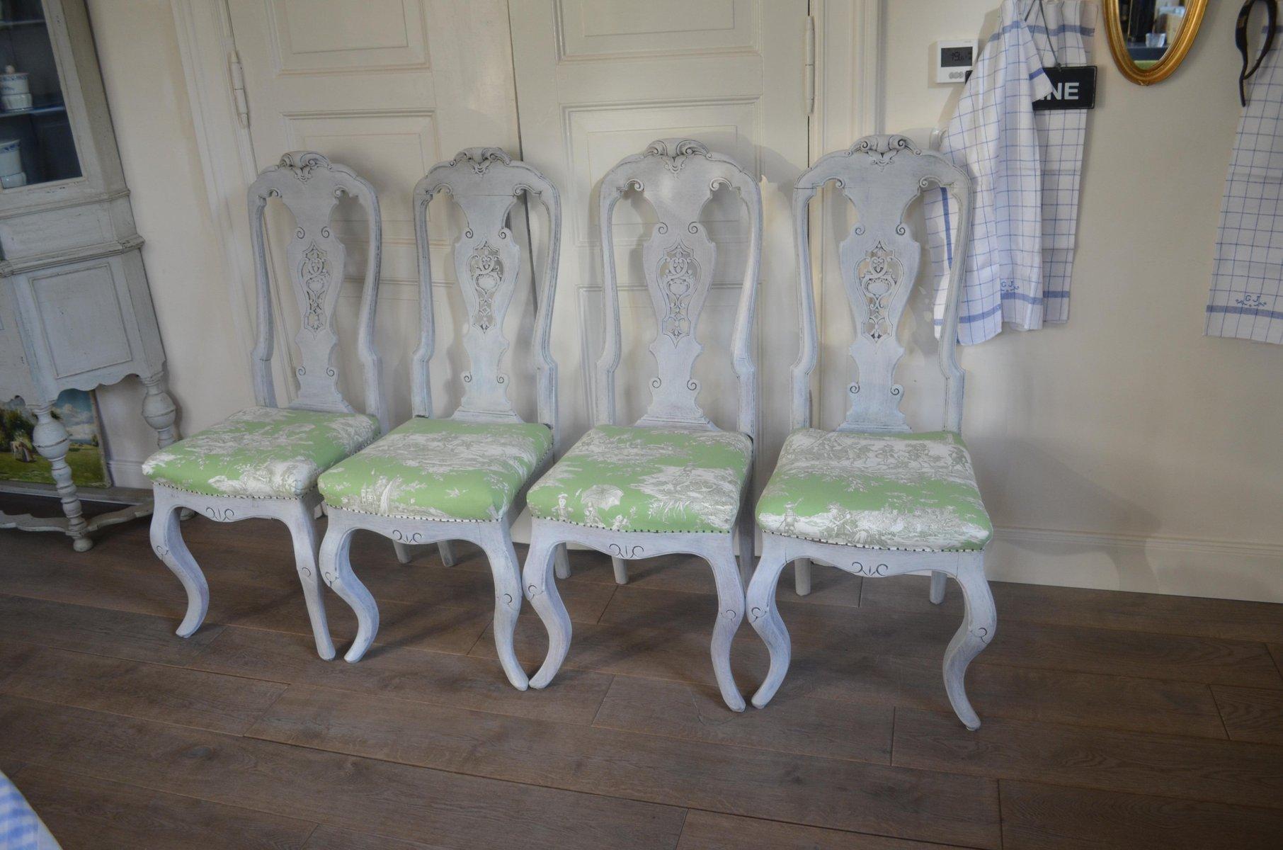 19th Century Swedish Chairs, Set Of 4