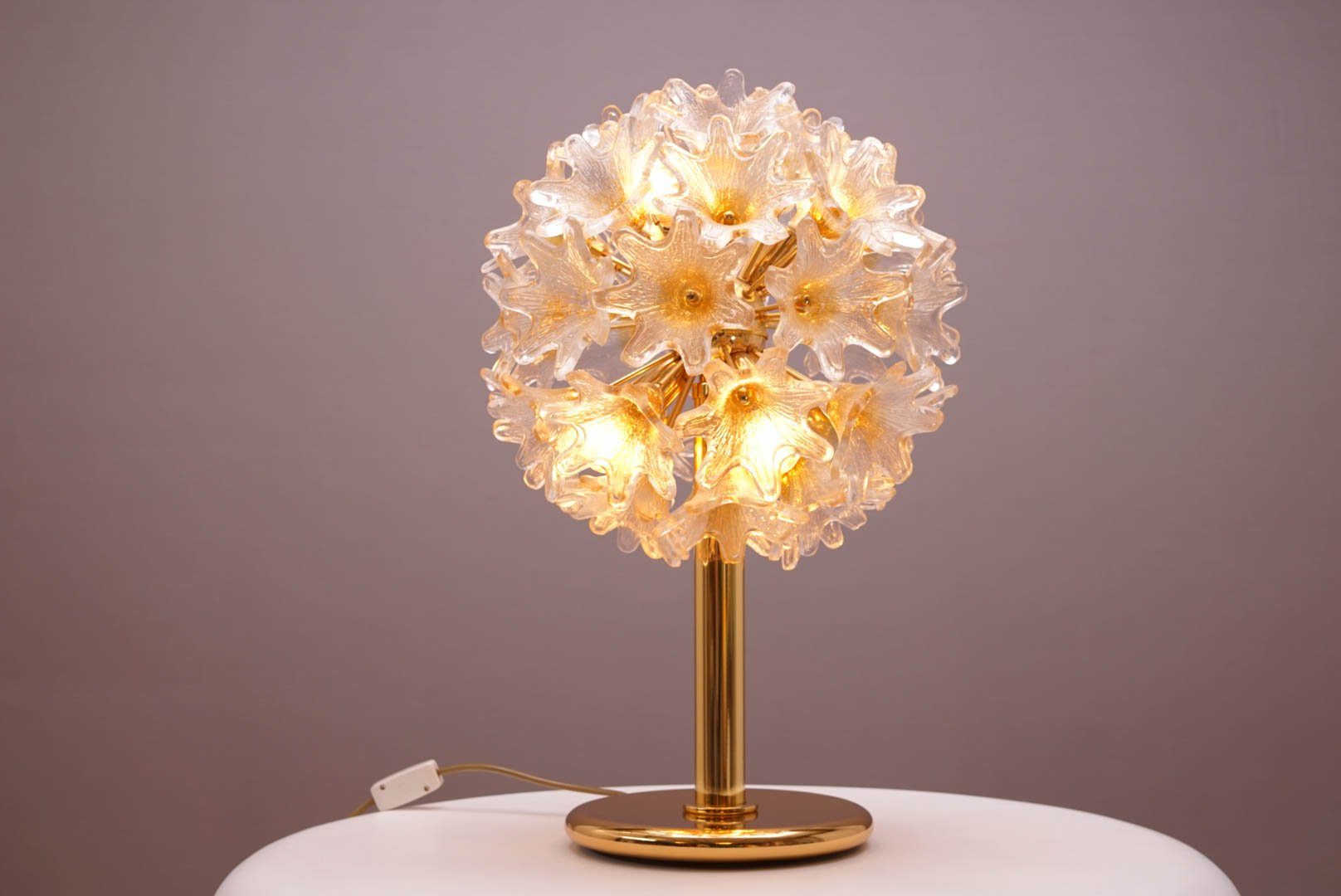 Mid Century Murano Flower Lamp By Paolo Venini For VeArt