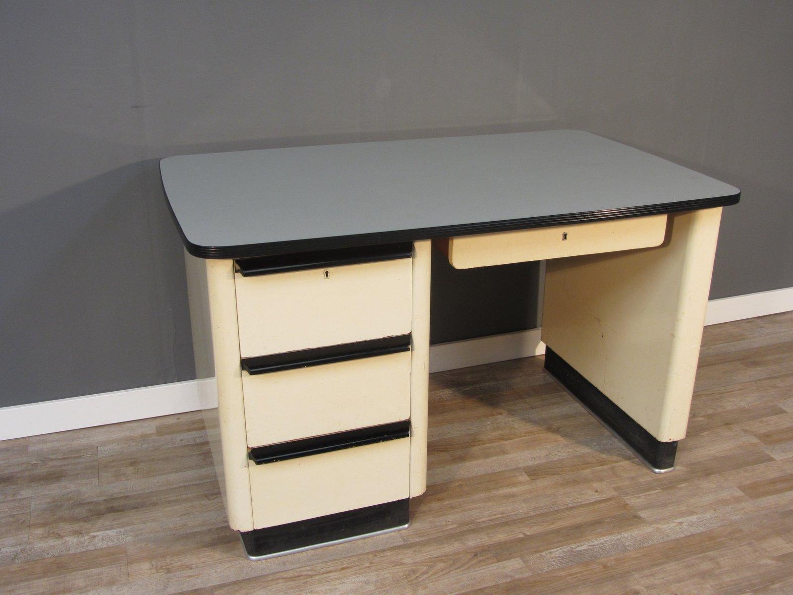 schreibtisch im art deco stil 1950er bei pamono kaufen. Black Bedroom Furniture Sets. Home Design Ideas