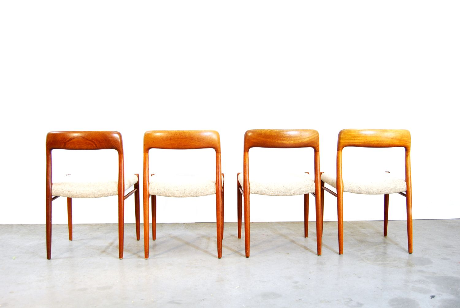 Danish Teak Dining Chairs By Niels O Moller For JL Mollers 1970s Set Of 4