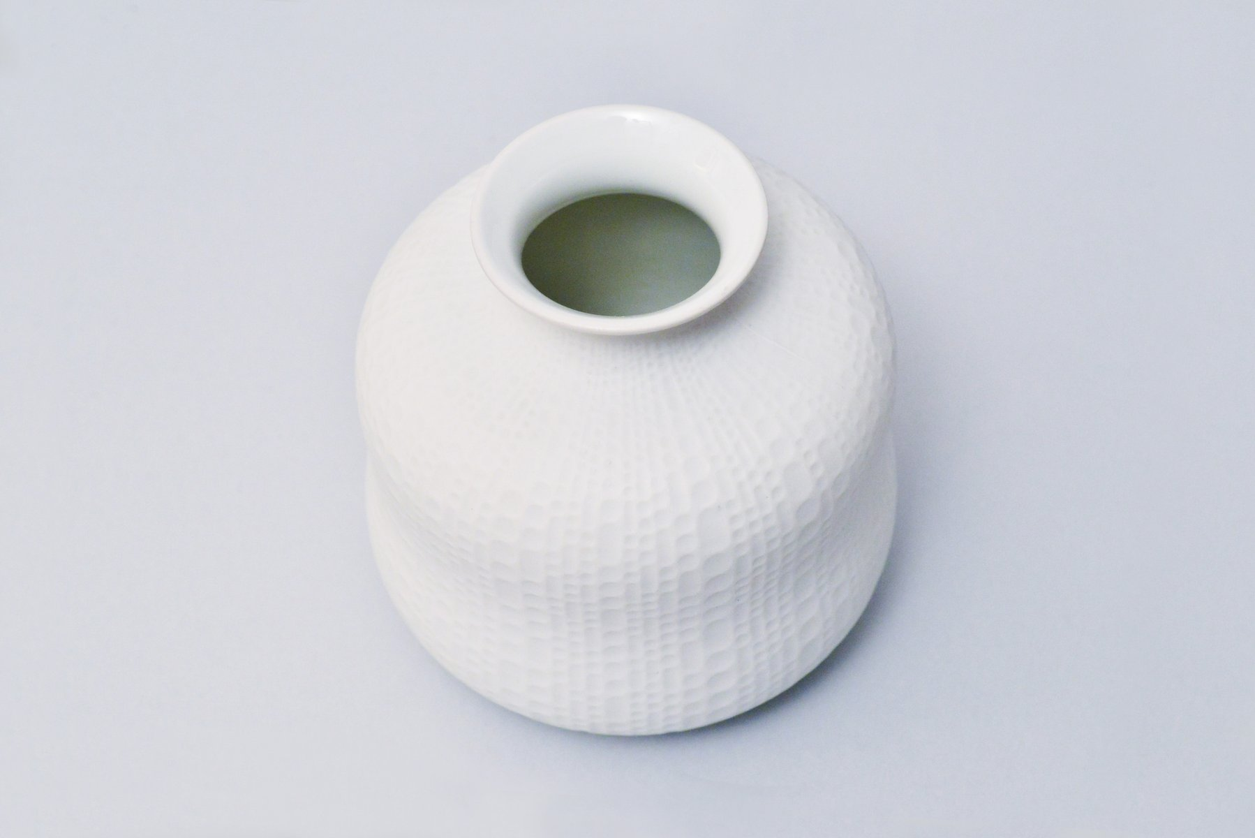handgemachte wei e vintage biskuitporzellan vasen von royal porzellan kpm 2er set bei pamono kaufen. Black Bedroom Furniture Sets. Home Design Ideas
