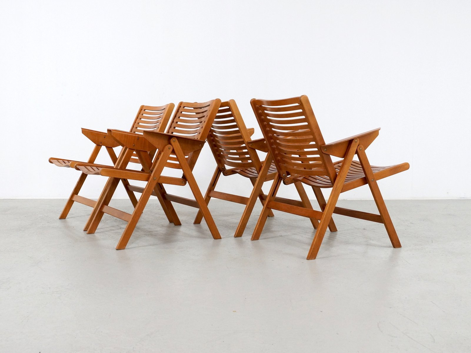 Vintage Rex Folding Chairs by Niko Kralj for Stol Set of 4 for