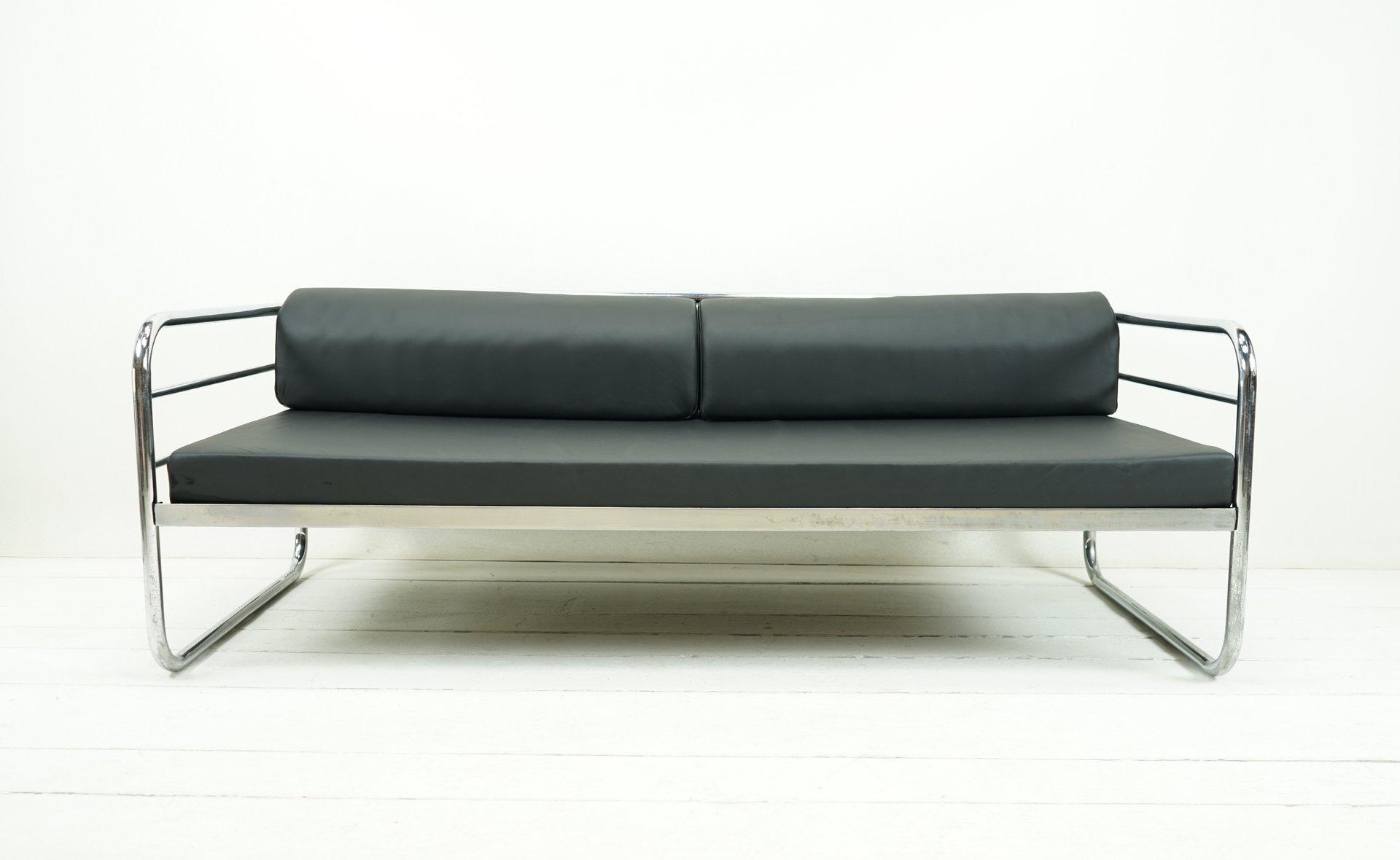 Beautiful Vintage Bauhaus Daybed Sofa From Muecke Melder