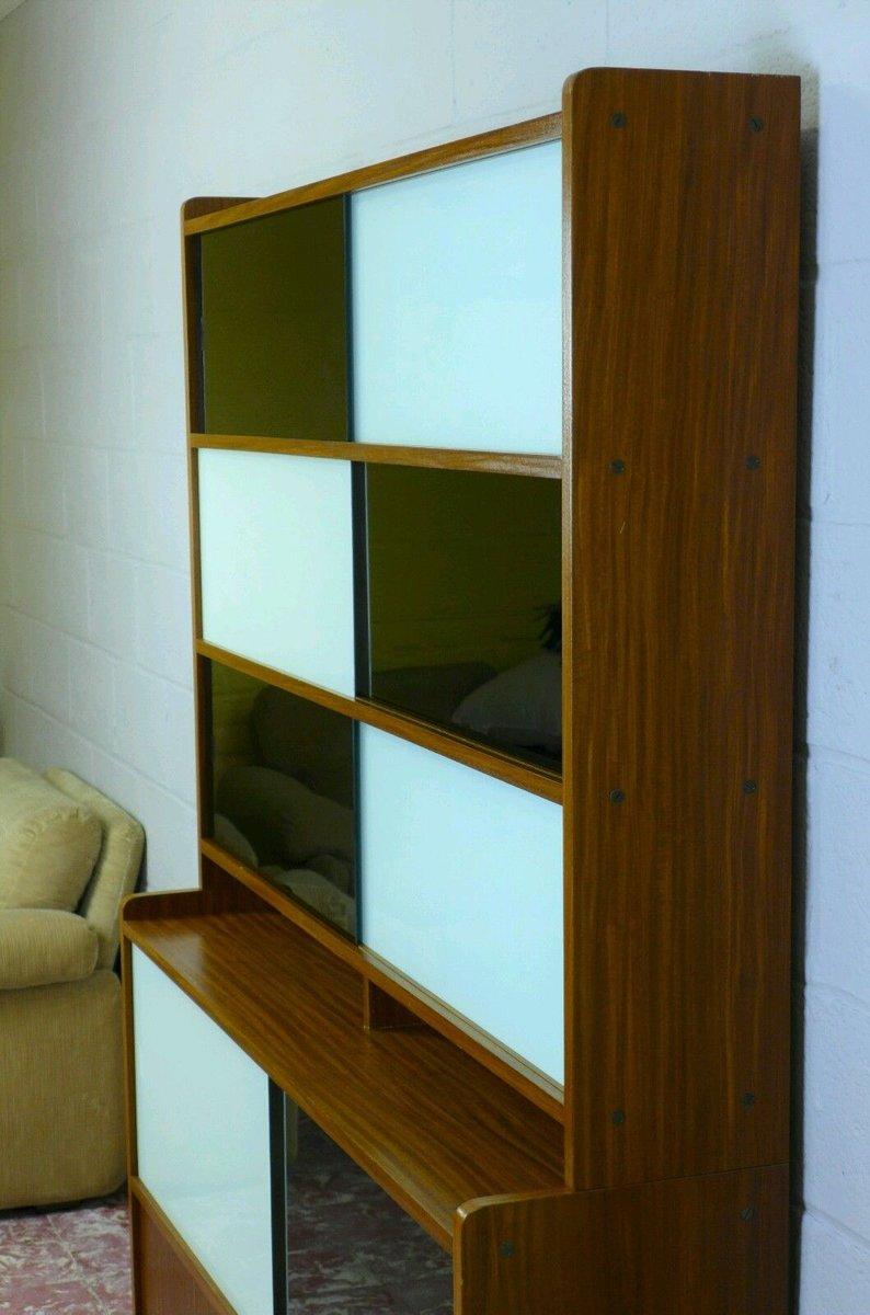 regalsystem mit schiebet ren 1960er bei pamono kaufen. Black Bedroom Furniture Sets. Home Design Ideas