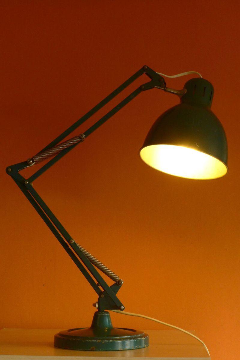 d nische l2 lampe aus gr n lackiertem metall von jacob jacobsen f r luxo 1940er bei pamono kaufen. Black Bedroom Furniture Sets. Home Design Ideas