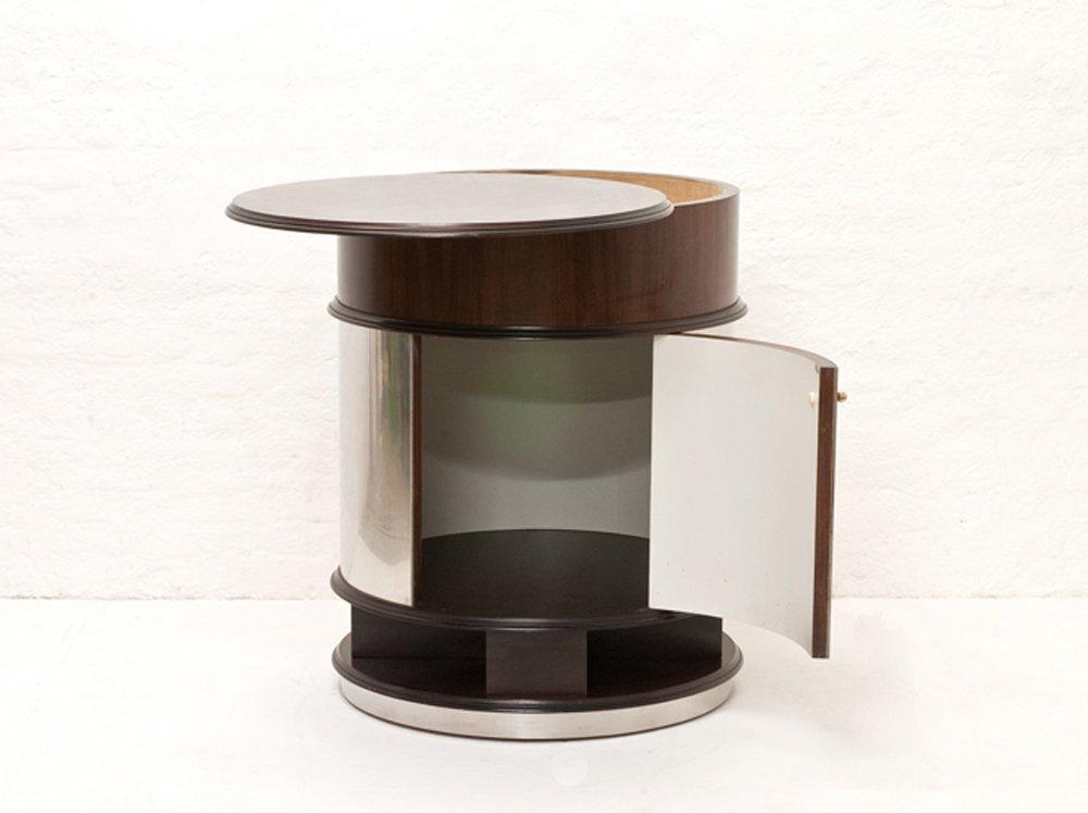 runder vintage barschrank auf rollen 1970er bei pamono kaufen. Black Bedroom Furniture Sets. Home Design Ideas