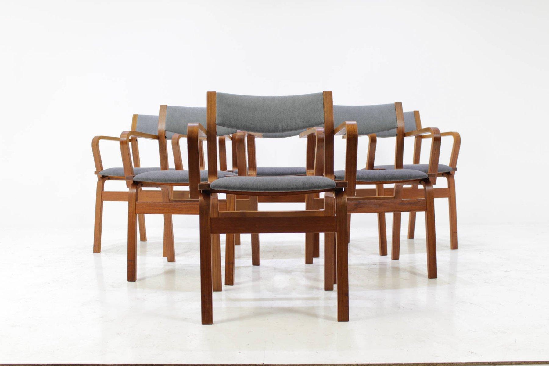 d nische vintage bugholz st hle aus teak 6er set bei. Black Bedroom Furniture Sets. Home Design Ideas