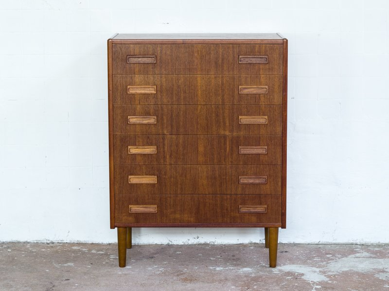 en chest furniture drawers modern of century mid by borge double vintage mogensen