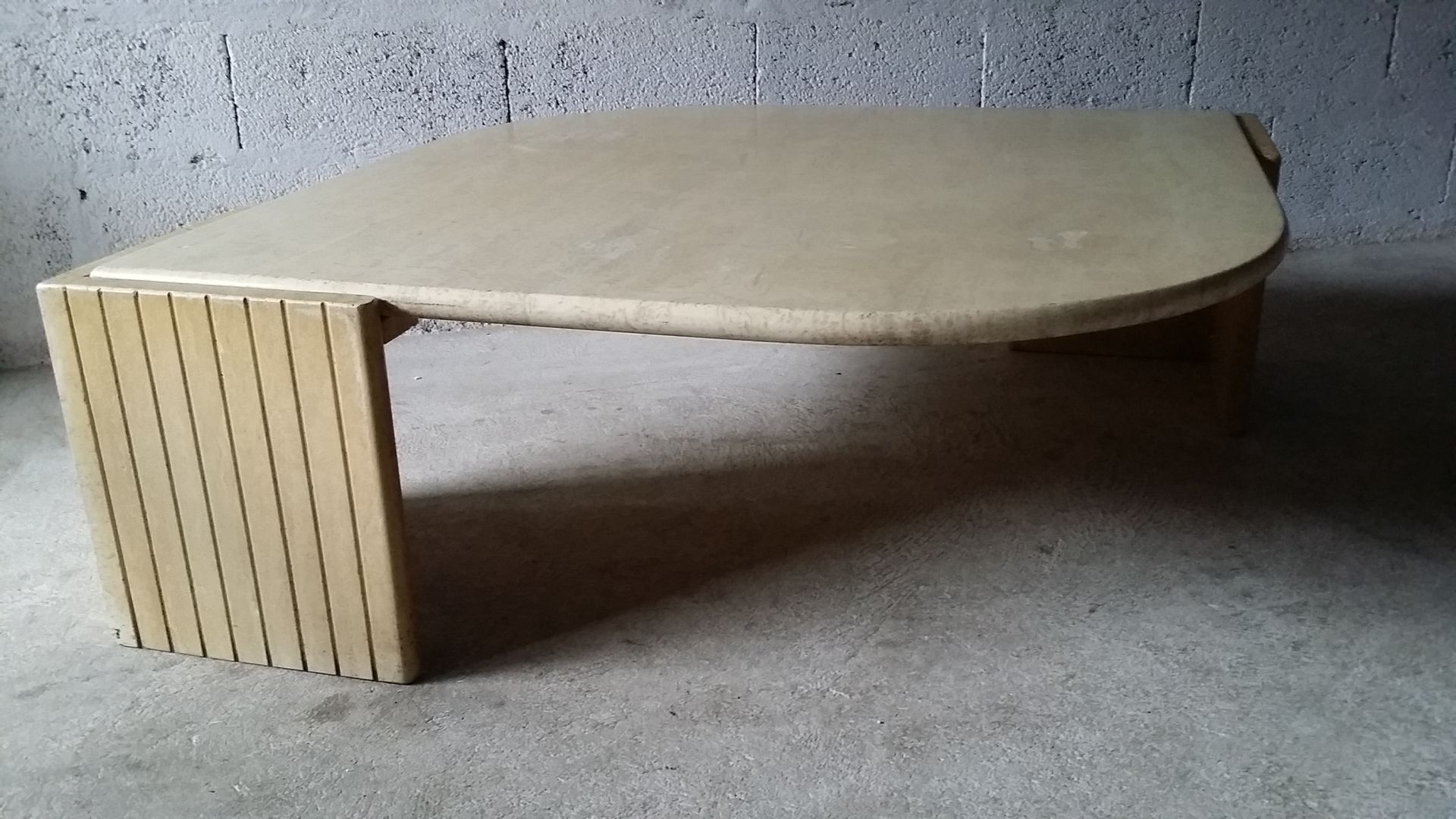 Vintage Travertine Coffee Table from Roche Bobois 1970s for sale