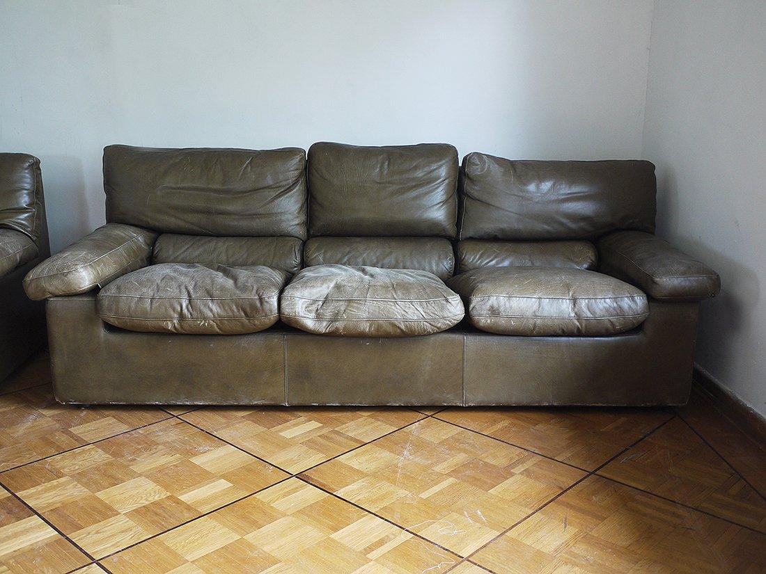 set de mobilier de salon en cuir par guido faleschini i4 mariani 1970s en vente sur pamono. Black Bedroom Furniture Sets. Home Design Ideas