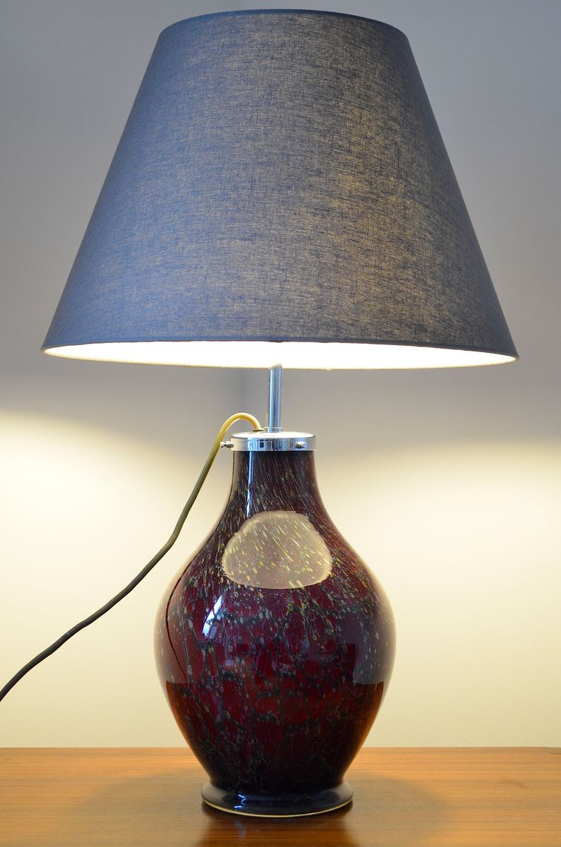 vintage ikora tischleuchte aus glas von karl wiedmann f r wmf 1930er bei pamono kaufen. Black Bedroom Furniture Sets. Home Design Ideas