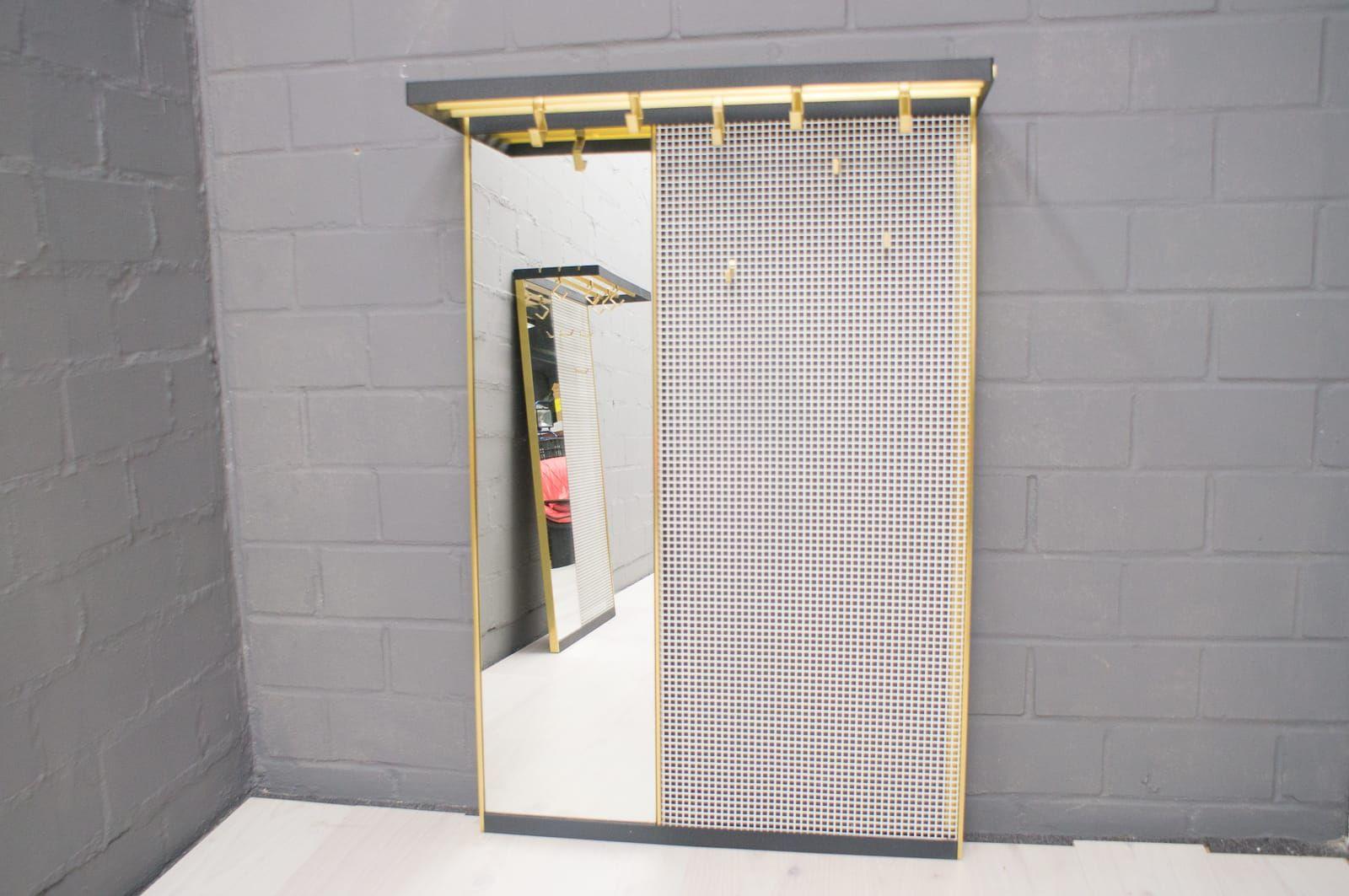 Attaccapanni a muro in metallo con specchio anni 39 50 in - Attaccapanni a muro design ...