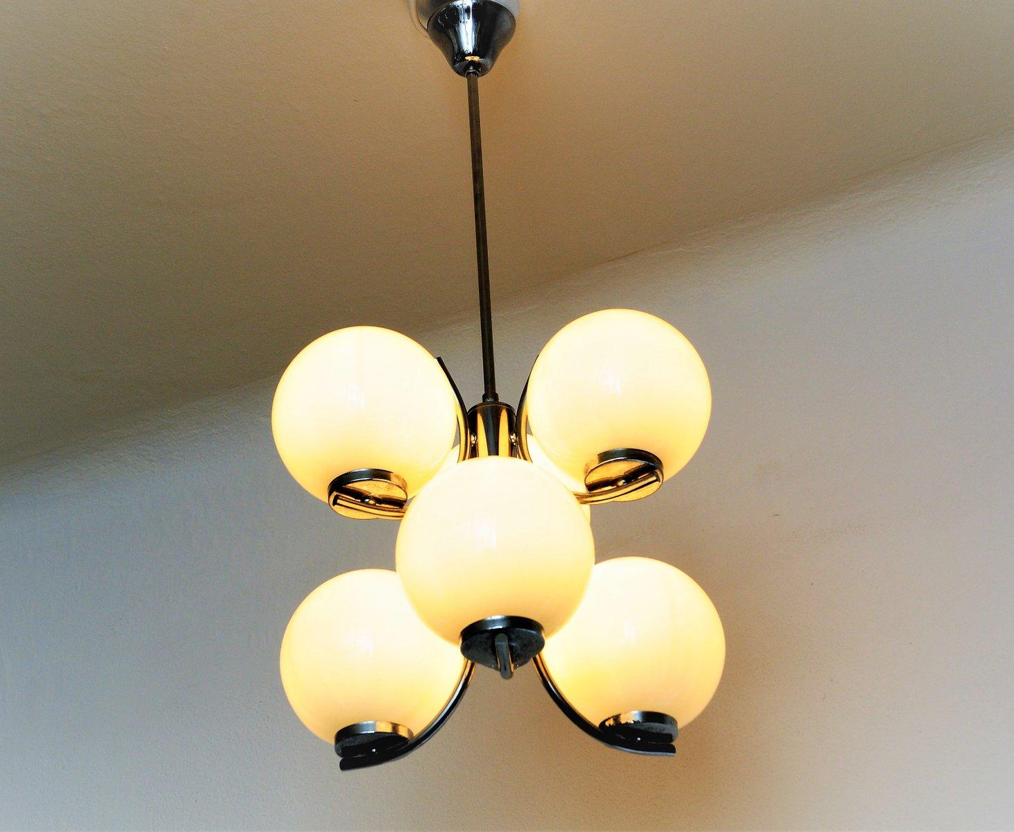 vintage deckenlampe aus glas 1970er bei pamono kaufen. Black Bedroom Furniture Sets. Home Design Ideas