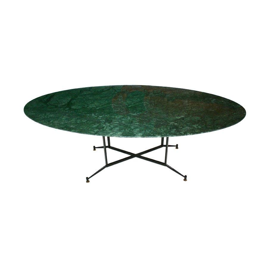 Esstisch aus indischem gr nen marmor 1950er bei pamono kaufen for Esstisch aus marmor