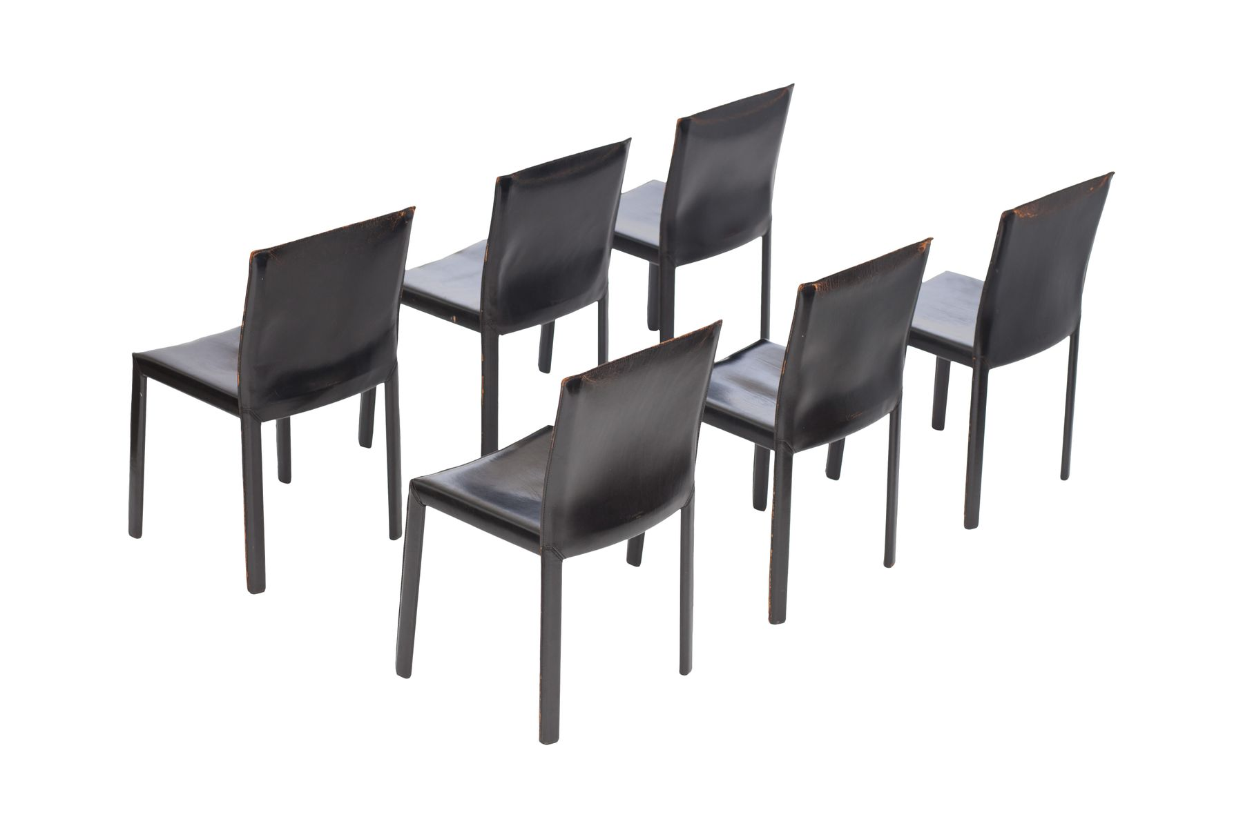 Schwarze Lederstühle schwarze lederstühle studio grassi bianchi für pellizoni