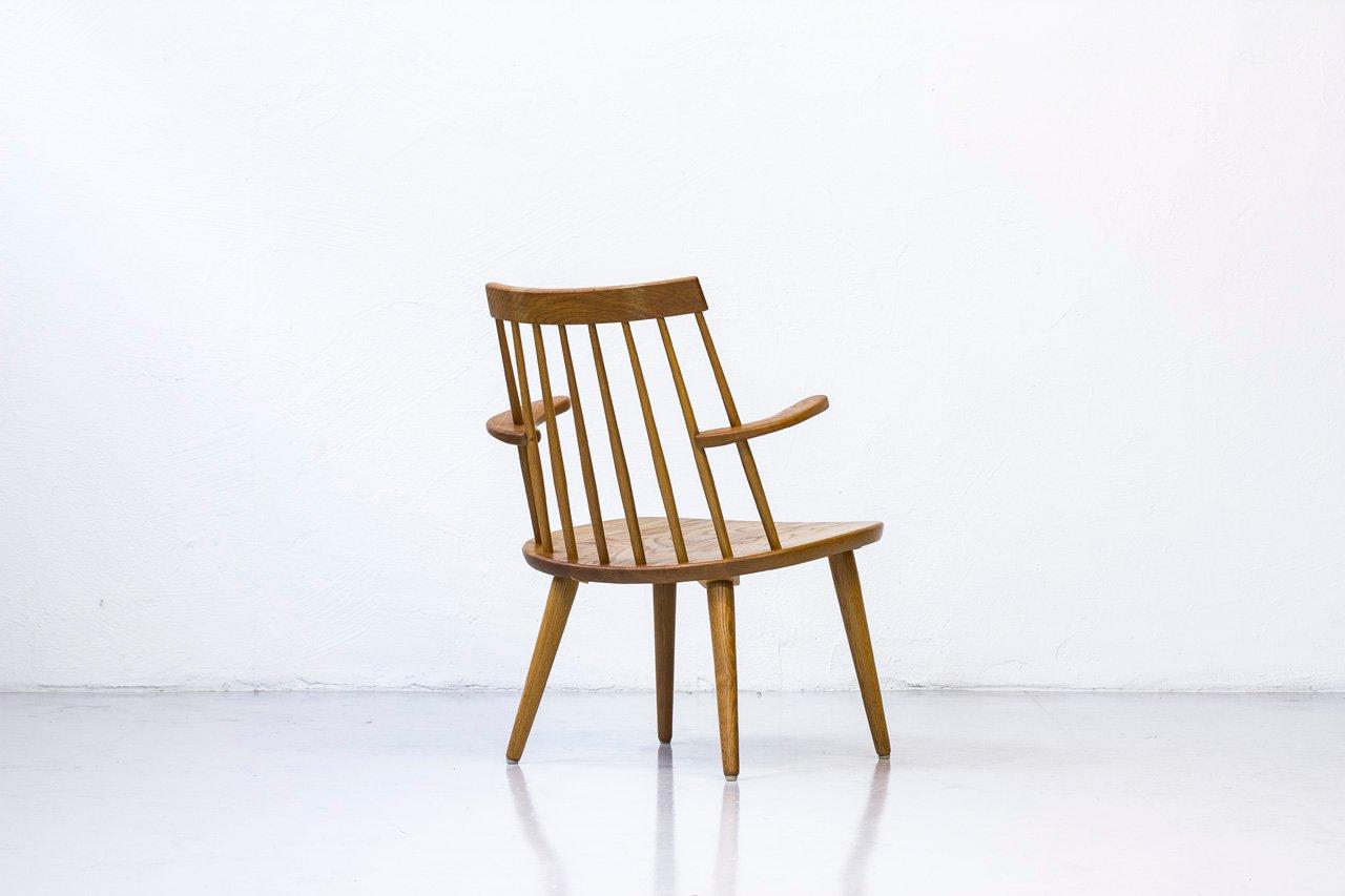 Sibbo Armlehnstuhl aus Massiver Eiche von Yngve Ekström für Stolab, 1960er bei Pamono kaufen