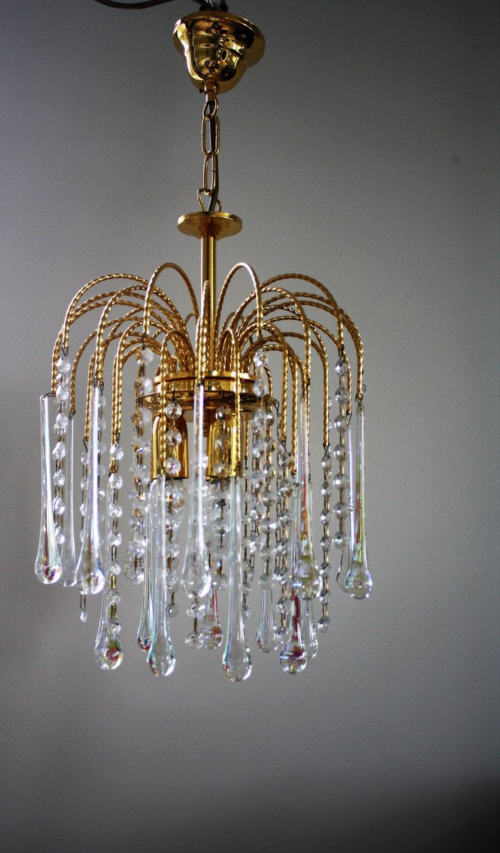 Vintage teardrop chandelier crystals chandelier designs vintage crystal murano glass teardrop chandelier 1960s for at arubaitofo Image collections