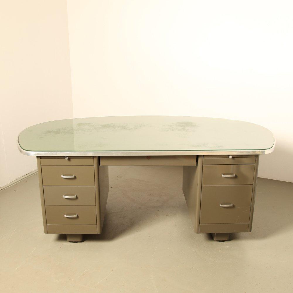 Schreibtisch von vanderborght 1950er bei pamono kaufen for Schreibtisch 3 meter lang