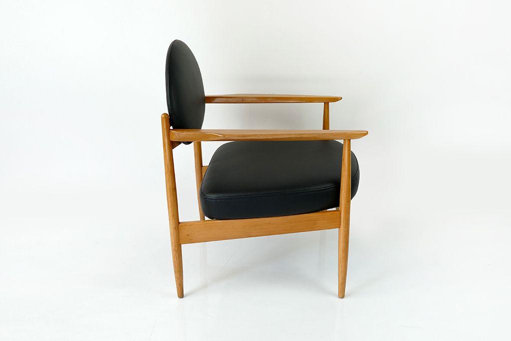 Vintage kunstleder armlehnstuhl 1960er bei pamono kaufen for Armlehnstuhl kunstleder