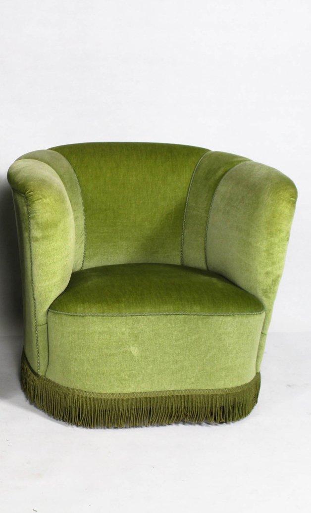 d nische gr ne mid century velours sessel 2er set bei. Black Bedroom Furniture Sets. Home Design Ideas