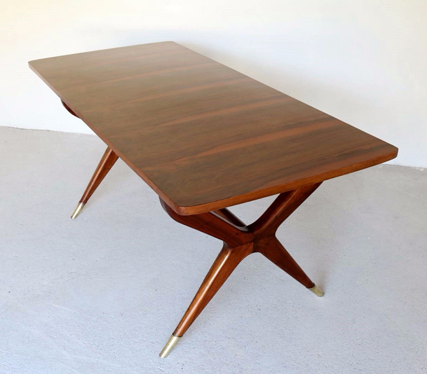 Awesome Vintage Italian Walnut Dining Table
