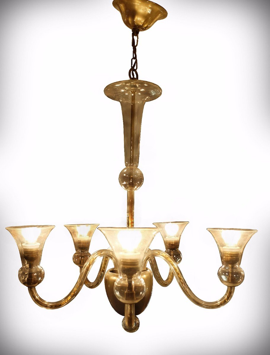 Vintage murano glass chandelier 1970s for sale at pamono vintage murano glass chandelier 1970s aloadofball Gallery