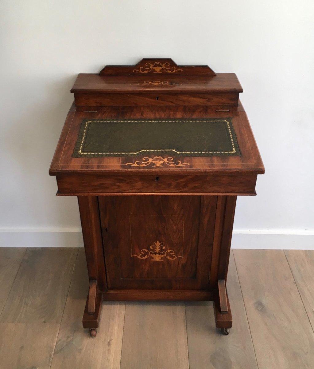 kleiner mahagoni sekret r mit intarsie 1880er bei pamono kaufen. Black Bedroom Furniture Sets. Home Design Ideas