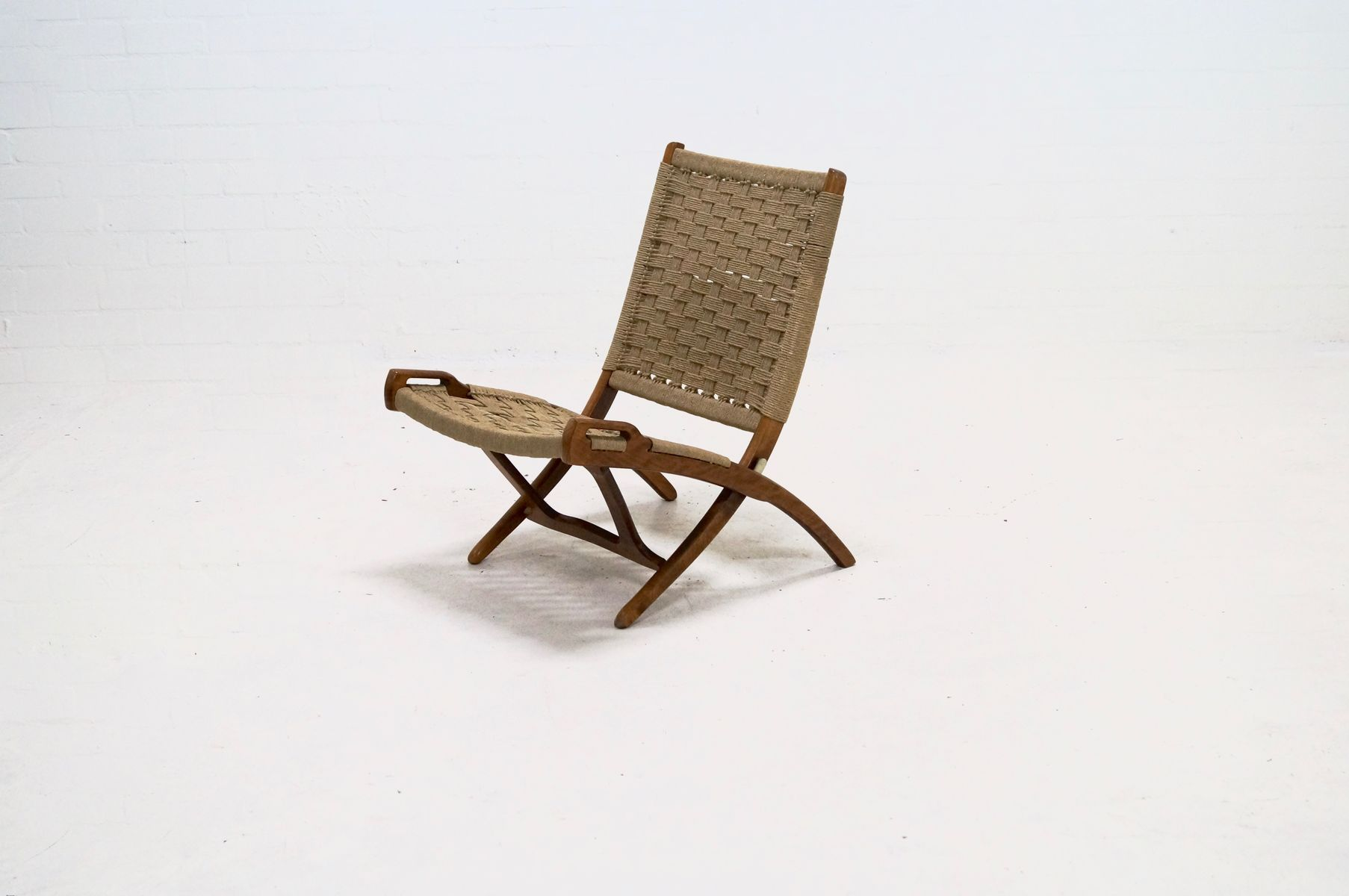 Folding Rope Chair By Ebert Wels, 1960s For Sale At Pamono