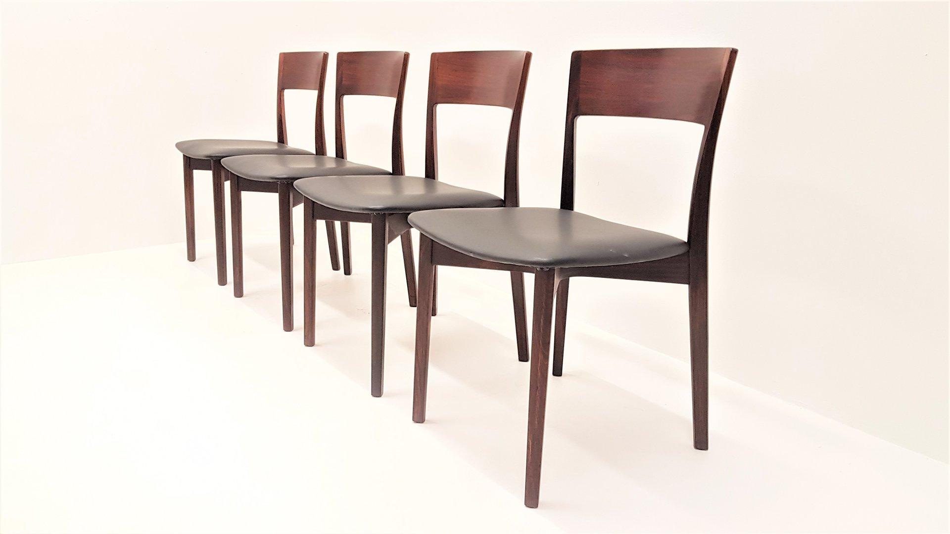 mid century palisander esszimmerst hle 1960er 4er set. Black Bedroom Furniture Sets. Home Design Ideas