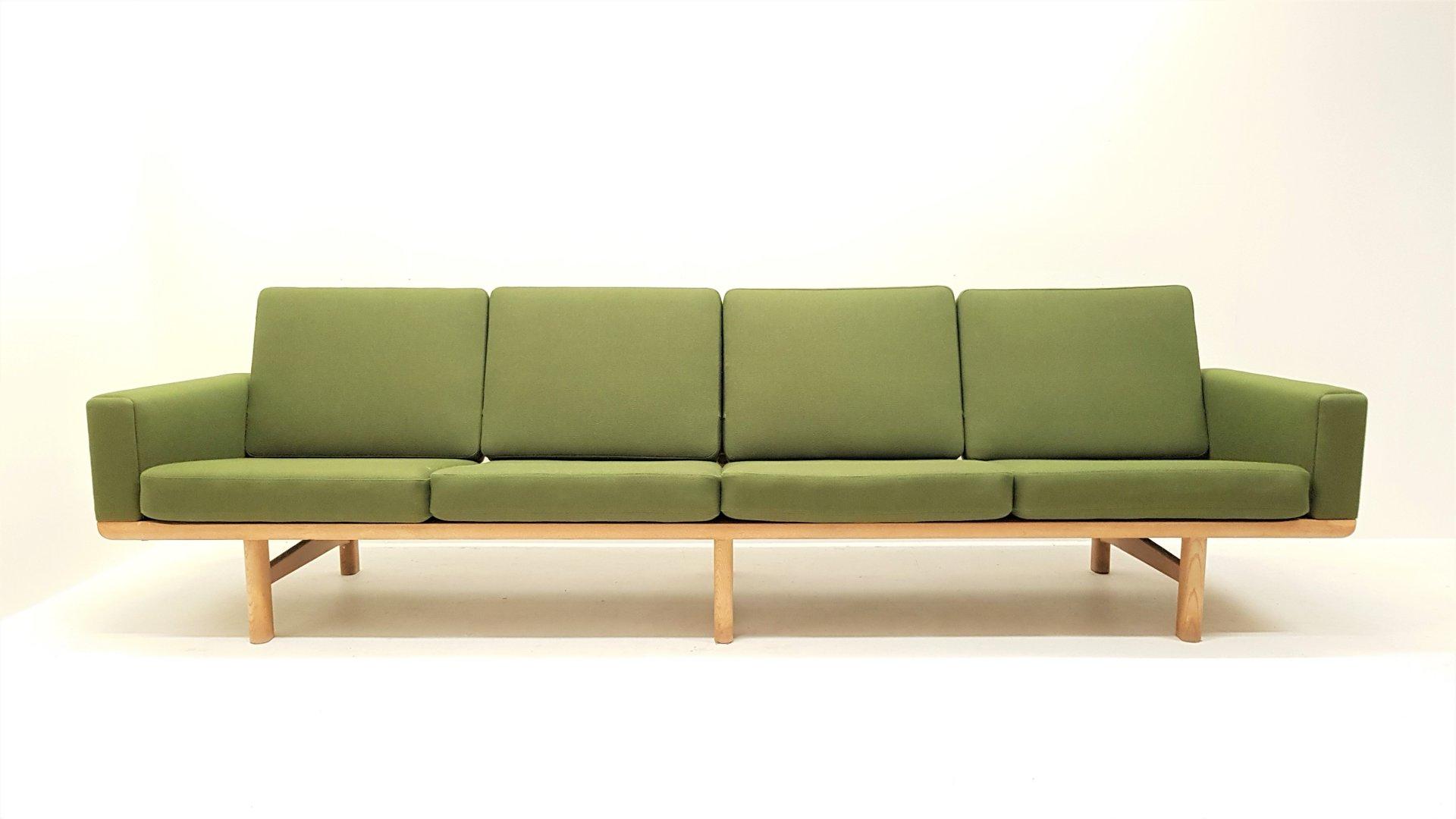 Mid Century GE 236 4 4 Seater Sofa by Hans J Wegner for Getama