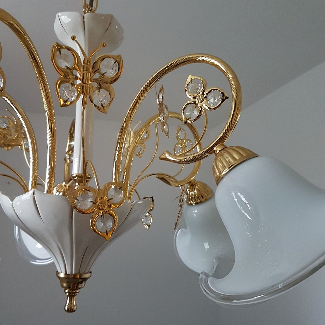murano glas swarovski kristall kronleuchter von b c san. Black Bedroom Furniture Sets. Home Design Ideas