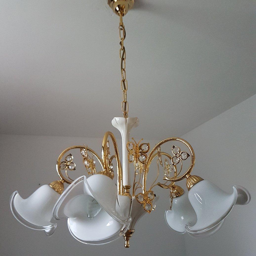 chandelier en verre de murano cristal swarovski de b c san michele 1980s en vente sur pamono. Black Bedroom Furniture Sets. Home Design Ideas