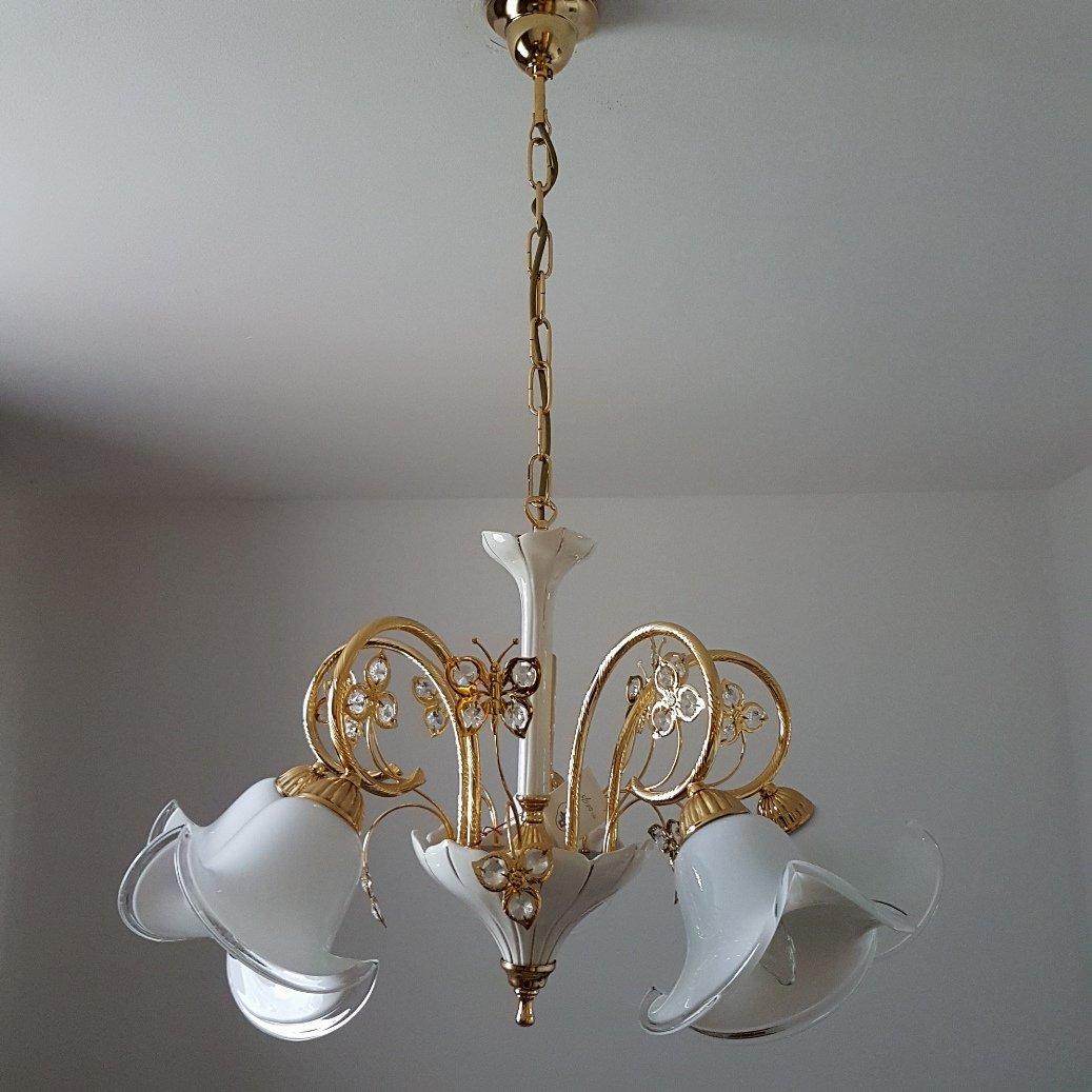 Murano glass swarovski crystal chandelier from bc san michele murano glass swarovski crystal chandelier from bc san michele 1980s aloadofball Gallery
