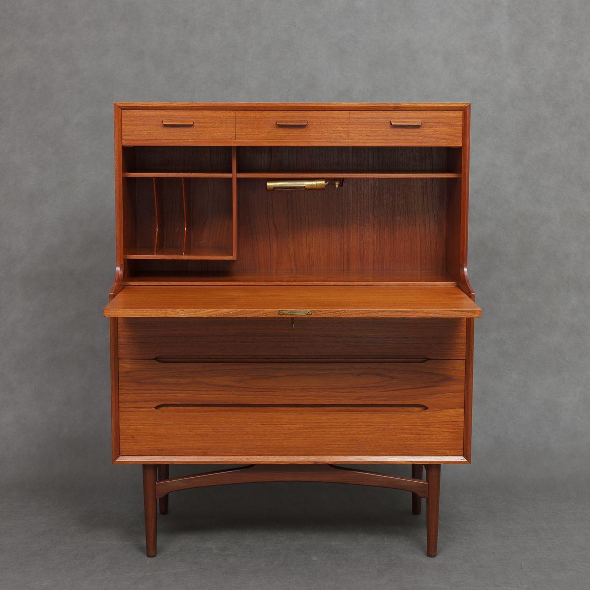 mid century teak sekret r von arne wahl iversen f r vinde mobelfabrik bei pamono kaufen. Black Bedroom Furniture Sets. Home Design Ideas