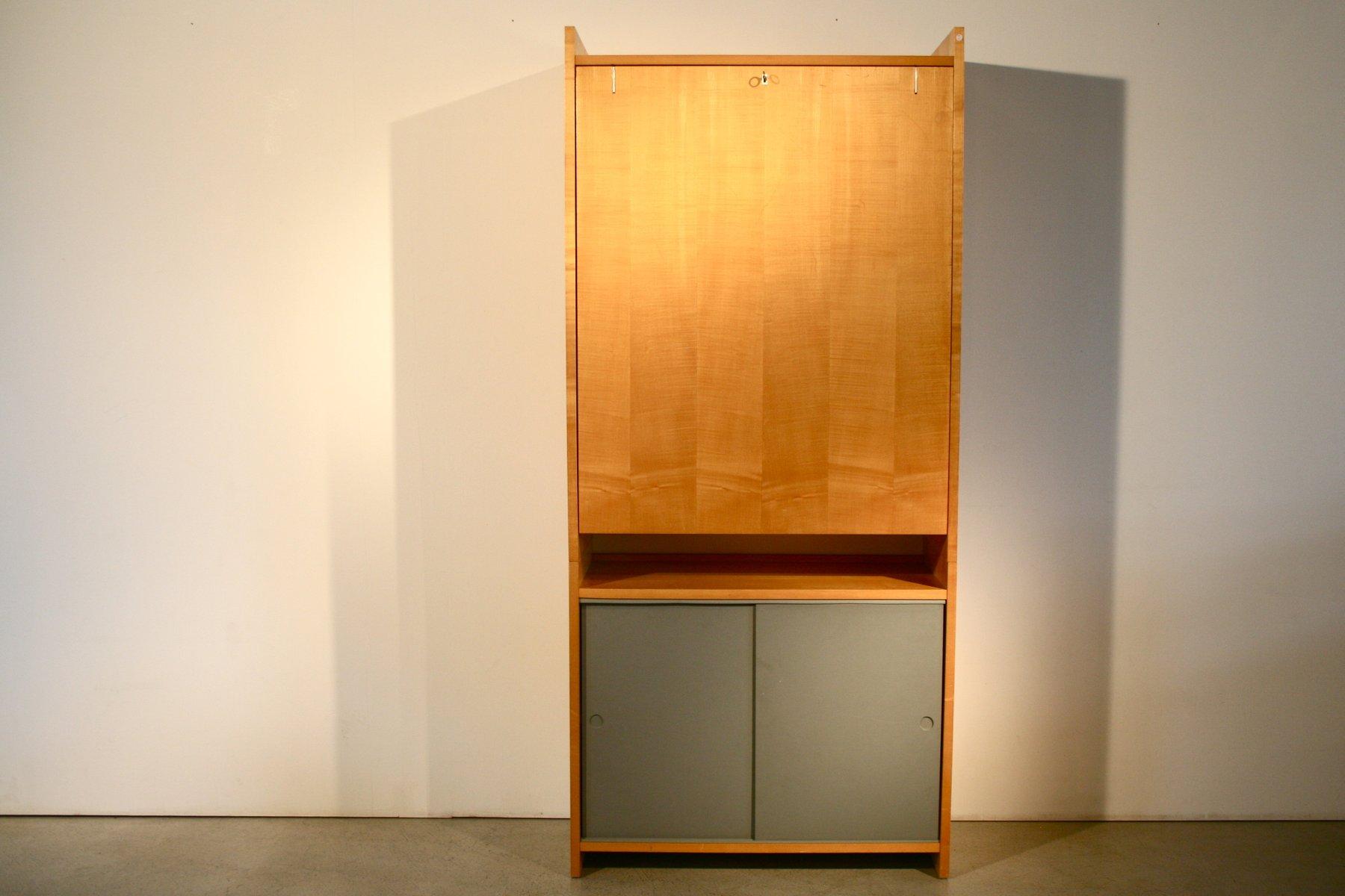 vintage regalsystem mit klapptisch von emil guhl f r. Black Bedroom Furniture Sets. Home Design Ideas