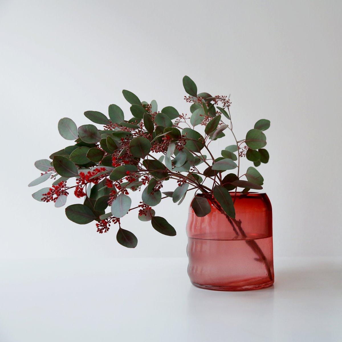 Small raw ruby red glass vase by milena kling for sale at pamono small raw ruby red glass vase by milena kling reviewsmspy