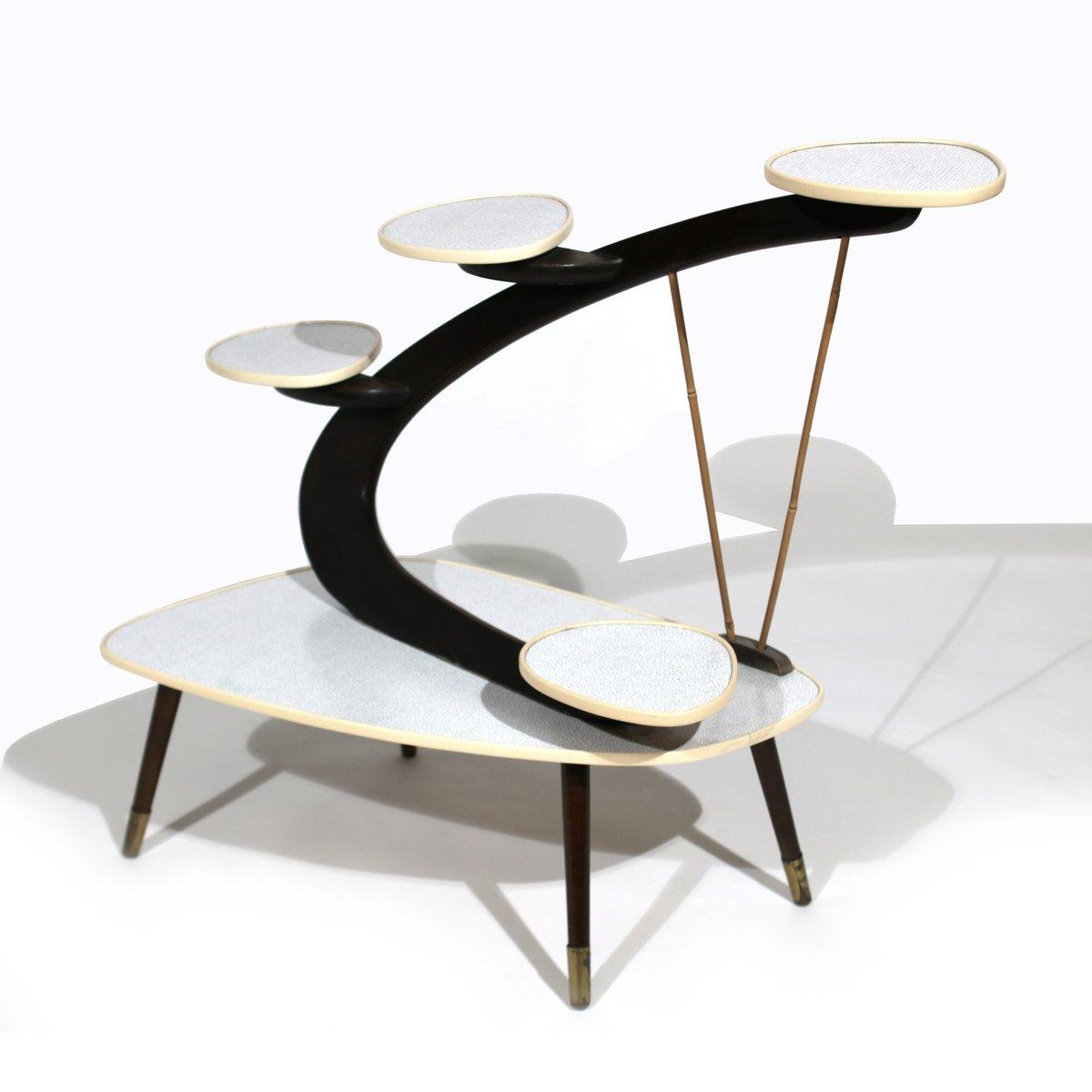 mid century modern beistelltisch f r blumen 1950er bei pamono kaufen. Black Bedroom Furniture Sets. Home Design Ideas