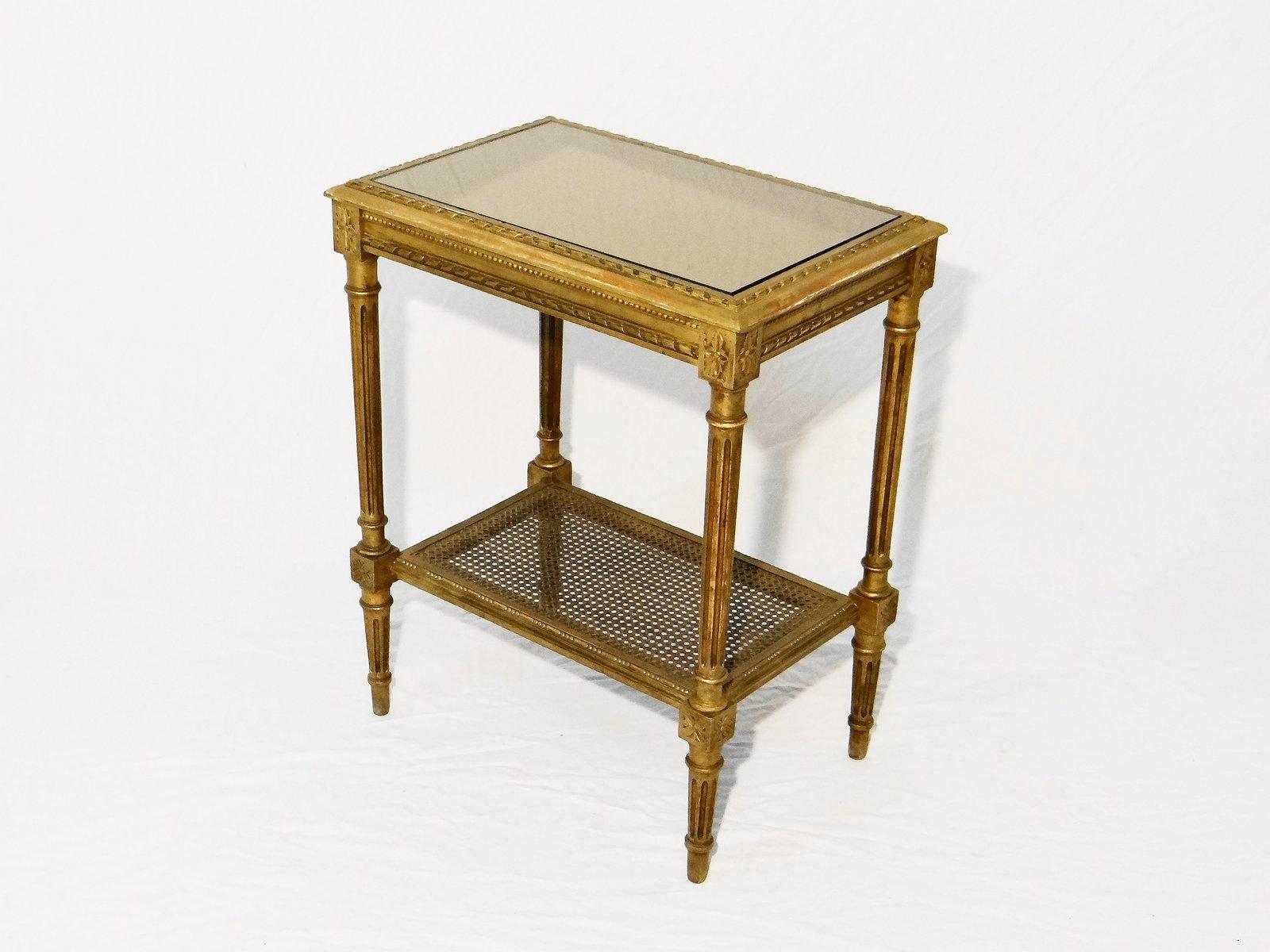 Table d 39 appoint en bois dor 1950s en vente sur pamono - Table d appoint dore ...