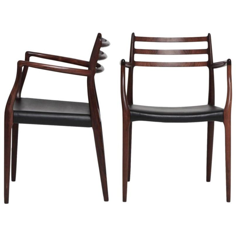 Model 62 Carver Chairs By Niels O Møller For J L Møllers, 1960s, Set Of 2