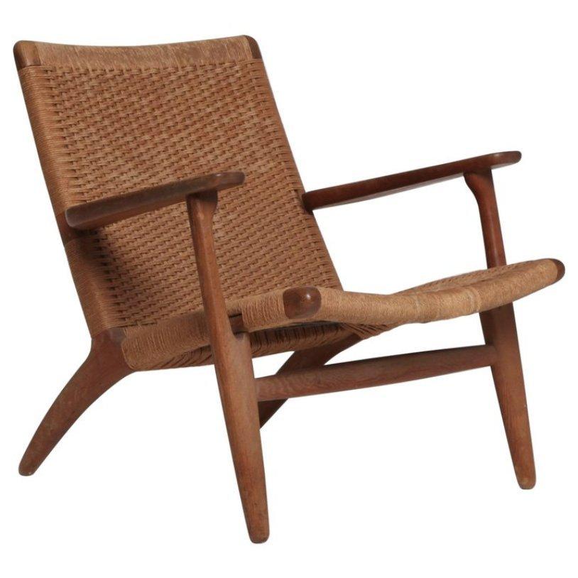 mid century ch 25 sessel von hans wegner f r carl hansen son bei pamono kaufen. Black Bedroom Furniture Sets. Home Design Ideas