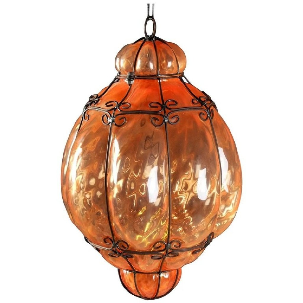 Italian cage art glass pendant lamp from seguso 1960s for sale at italian cage art glass pendant lamp from seguso 1960s aloadofball Images