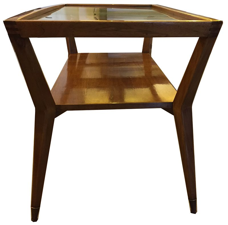 Wood & Glass Coffee Tables, 1970s, Set Of 2 For Sale At Pamono