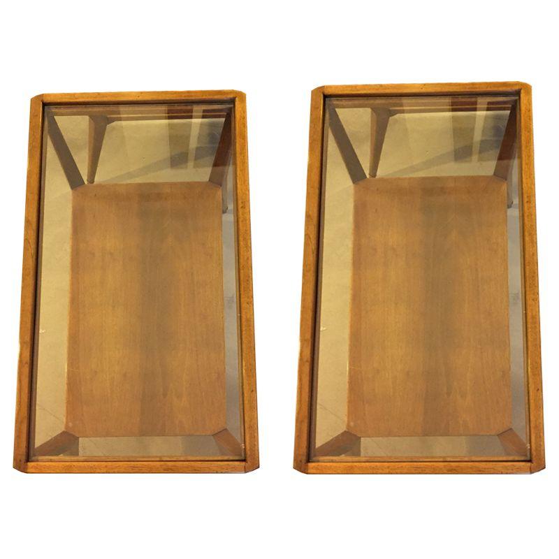 couchtische aus holz glas 1970er 2er set bei pamono kaufen. Black Bedroom Furniture Sets. Home Design Ideas