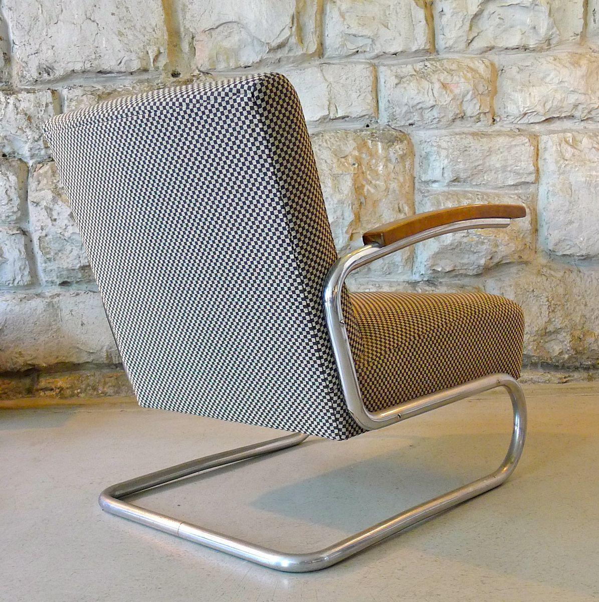 stahlrohr sessel 1930er bei pamono kaufen. Black Bedroom Furniture Sets. Home Design Ideas