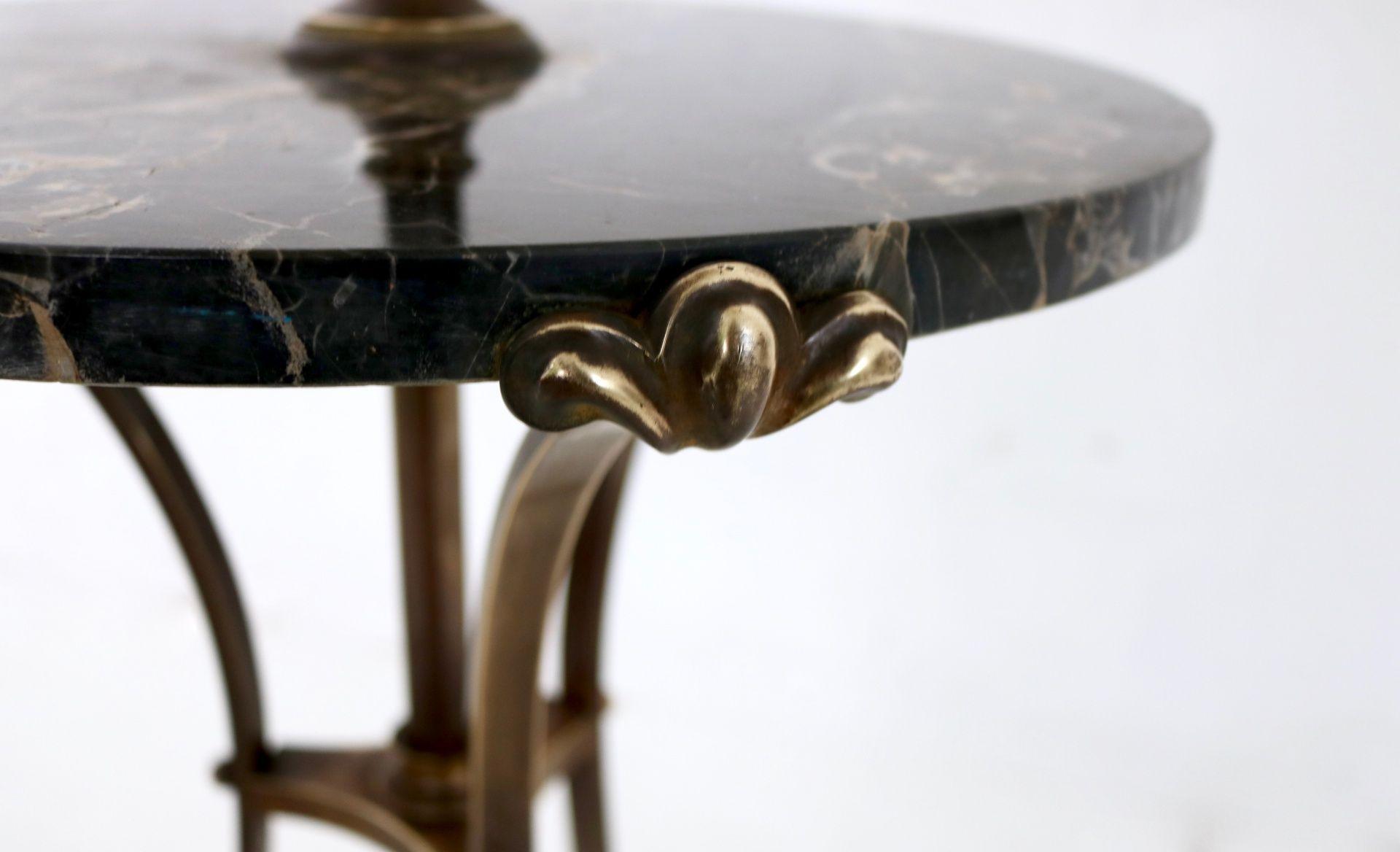 teleskopische bronze stehlampe mit portoro marmor ablage. Black Bedroom Furniture Sets. Home Design Ideas