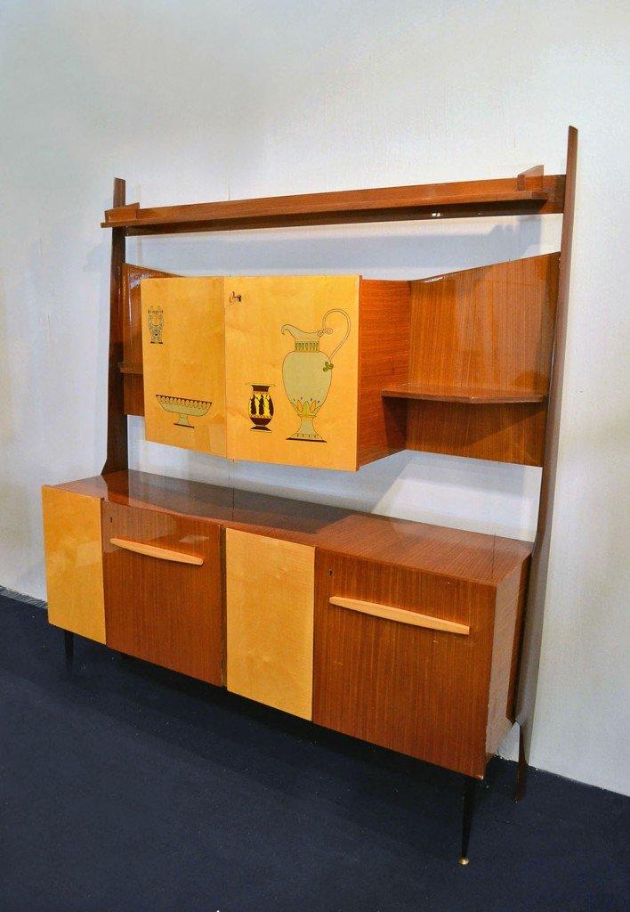 Mobili da salotto con scomparto bar in legno bicolore - Mobili da salotto ...