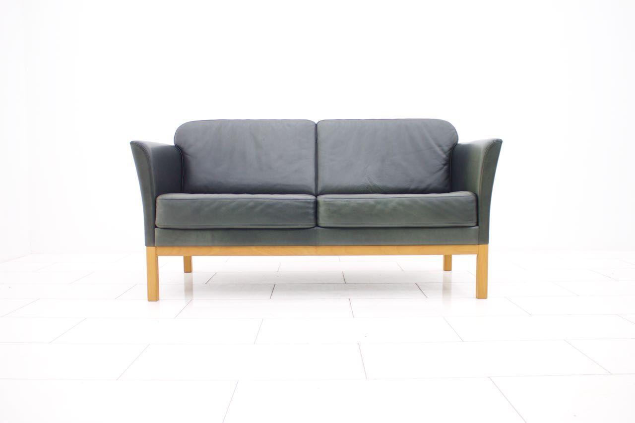 d nisches 2 sitzer ledersofa 1970er bei pamono kaufen. Black Bedroom Furniture Sets. Home Design Ideas